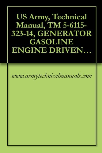US Army, Technical Manual, TM 5-6115-323-14, GENERATOR GASOLINE ENGINE DRIVEN, SKID MOUNTED, TUBULAR FRAME, 1.5 KW, SI PHASE, AC, 120/240 V, 28 V, DC, (English Edition) (Generator Manual Shop)