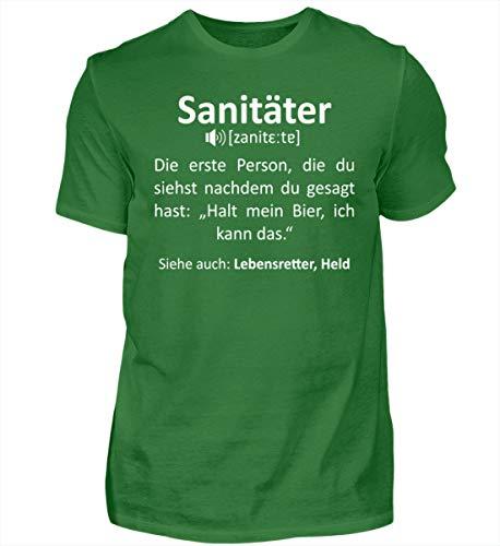 Sanitäter im Wörterbuch - Geschenk-Idee für Rettungssanitäter & Sanitäterin - Herren Shirt -XXL-Kelly Green