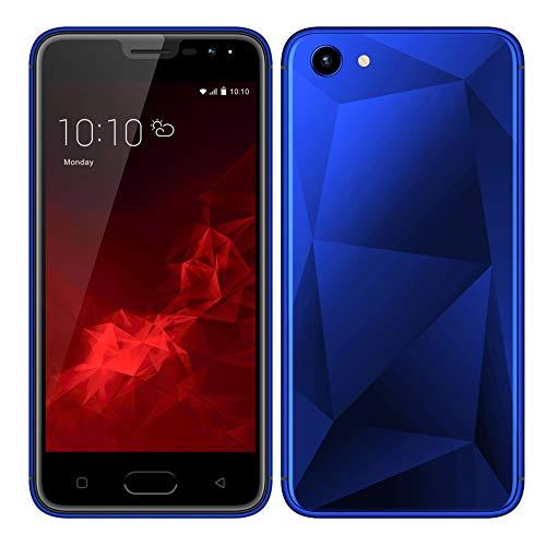 Móviles y Smartphones Libres, Unlocked 3G Teléfono Móvil Libre y sin Bloqueo de SIM, 5.0 Pulgadas con Pantalla HD Procesador (5.0MP HD Cámara,Dual SIM,1GB RAM & 4GB ROM (GPS,WiFi,Bluetooth (Azul)