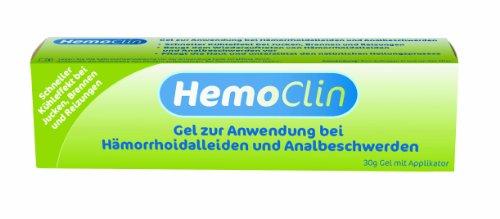 faktu zaepfchen HemoClin Hämorrhoiden Gel, 30 g, Behandlung von Hämorrhoidalleiden und Analbeschwerden, 1er Pack (1 x 30 g)