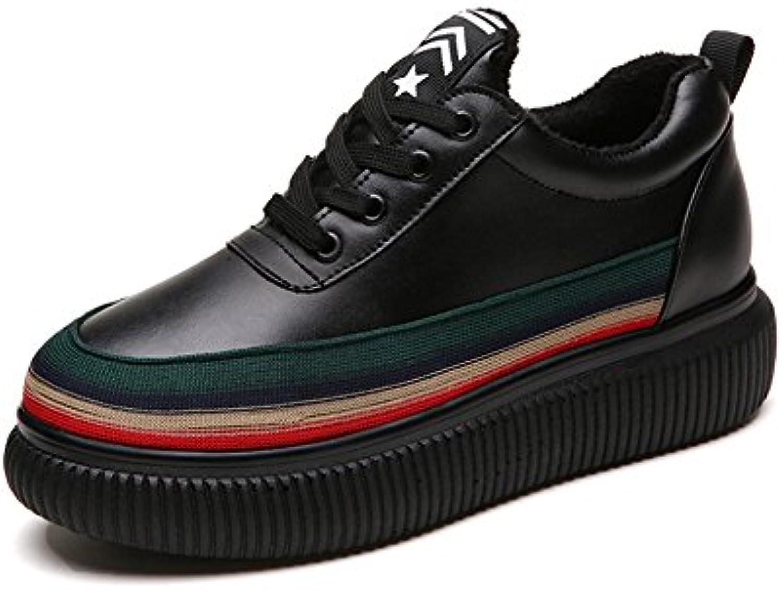 GAOLIXIA Zapatos de plataforma de primavera de cuero genuino de las mujeres Zapatos de color salvaje coreano a...