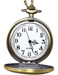 9d520d5eeb72 Floridivy Hombres Mujeres Brújula Cadena de Patrones de Bolsillo Pendiente  de Reloj Unisex Reloj de Cuarzo