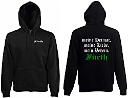 world-of-shirt Herren Kapuzenjacke Fürth Ultras Meine Heimat