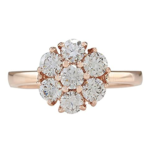 1.15 Carat Natural Diamond Ring 14K Solid Rose Gold