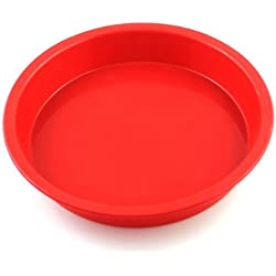 2win2buy 7.3*1 inch Silicone Round Cake Baking Mold Pastry Brownie Pizza Pie Dessert Pan by 2win2buy