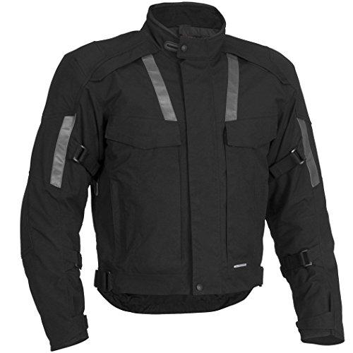 Newfacelook Herren schützend Motorrad Motorcyle Wasserdichte Textil jacke XX- large (Tab-kragen-jacke)