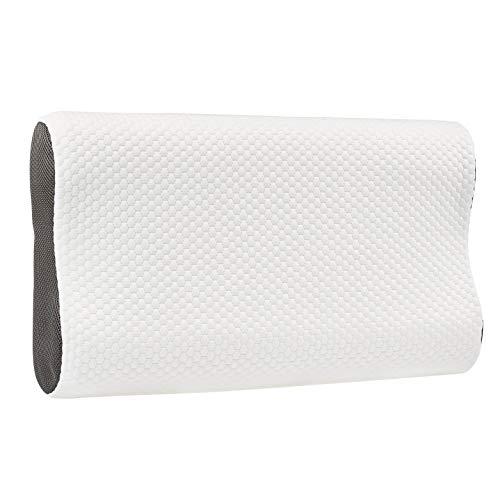 AmazonBasics - Cuscino sagomato in memory foam con supporto cervicale, regolabile in altezza, 60 x 35 cm