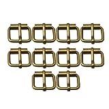 RDEXP - Set di 10 Fibbie a Rullo, in Metallo, Multiuso, per Cinture, Borse, Anelli, Accessori Fai da Te, Bronze, 2.6x2.2x0.6cm/1.02x0.87x0.24inch(LxWxT)