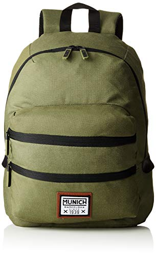 Munich Unisex-Erwachsene Backpack PACHT II Rucksack, Grün (Khaki), 18x40x33 Centimeters