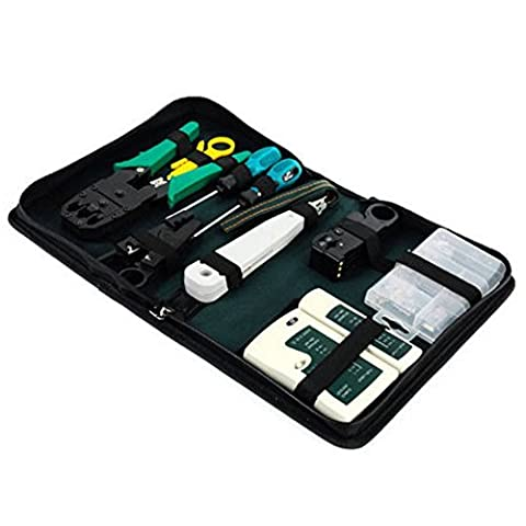 Ardisle Ethernet-LAN Kit RJ11RJ45Cat5e TV Kabel Tester Crimp-Crimper Stripper Werkzeug