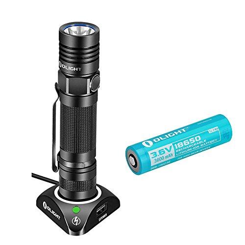 Olight® S30R II Torcia Ricaricabile Tascabile con LED Cree XM-L2 U3 + Batteria al litio 18650 3600mAh 1020 lumens - Ricarica Rapida - Modalità Strobo (5 Anni di Garanzia)