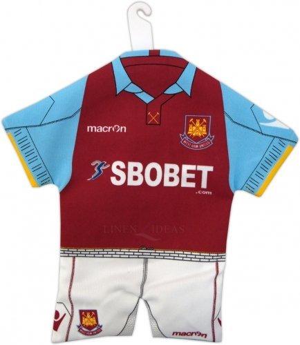 Original West Ham United FC Spurs Mini Kit Trikot+Shorts fürs Auto/Fenster NEU -