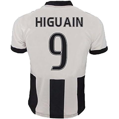 Camiseta Oficial Para Hombre, Juventus, Réplica, 2016-17, primera equipación, 9 Gonzalo Higuaín, come da foto,