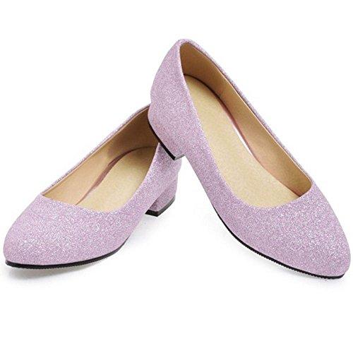 RAZAMAZA Femmes a Enfiler Escarpins purple