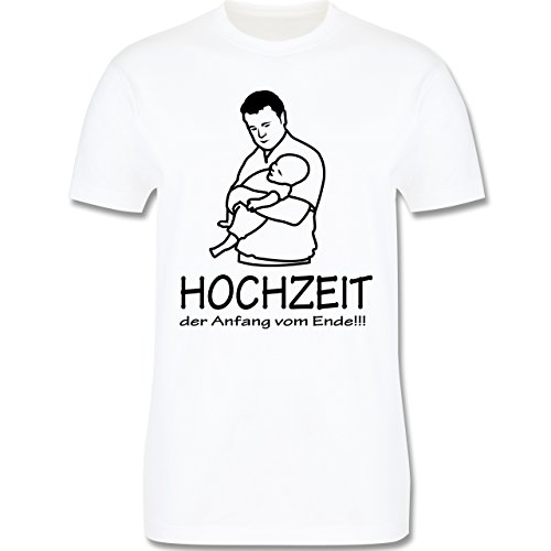 JGA Junggesellenabschied - Hochzeit - Der Anfang vom Ende - Herren Premium T-Shirt Weiß