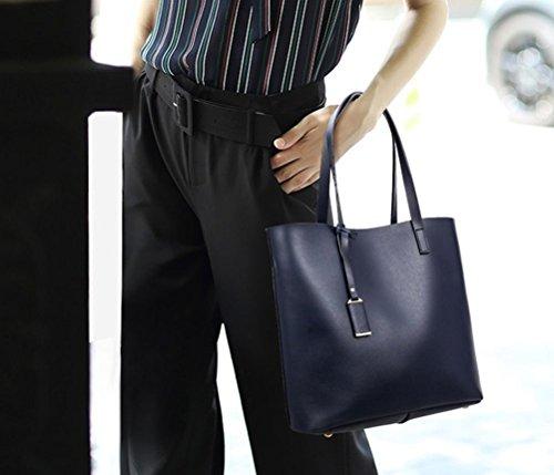 Borsa A Tracolla Stile Europeo New Yaagle New Elegant Borsa A Mano Borsa Da Donna Noble Soft Navy Blue