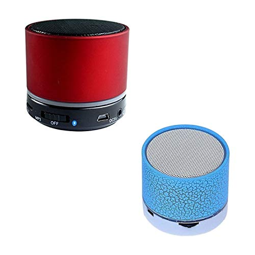 Forestone S10 Bluetooth Speakers with Calling Functions & FM Radio and Wireless LED Bluetooth Speakers S10 Handfree with Calling Functions & FM Radio for All Smartphones