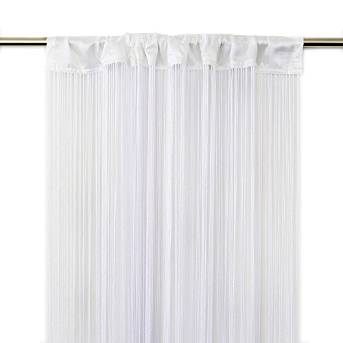 Victoria M. Leonora Vorhang - Fadenvorhang 100 x 245cm, Weiss