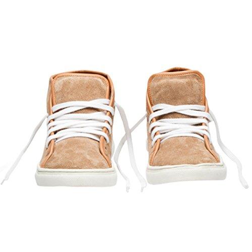 Scarpe Da Ginnastica Donna Tedish Scarpe Da Passeggio Per Donna In Pelle Scarpe Comode Scarpe Da Ginnastica Casual Per Il Tempo Libero Allacciate Per Il Tempo Libero Td005 Esme Praline Praline