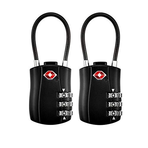 2 Pack TSA Equipaje Locks,Candado de Seguridad TSA con Combinación de