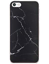 Teryei Funda iPhone 5 iPhone 5S iPhone Suave Silicona Carcasa full Protección marmol Patrón Ultra Slim