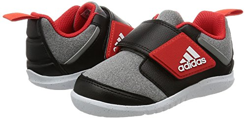 Chaussures adidas FortaPlay gris/noir/rouge intense