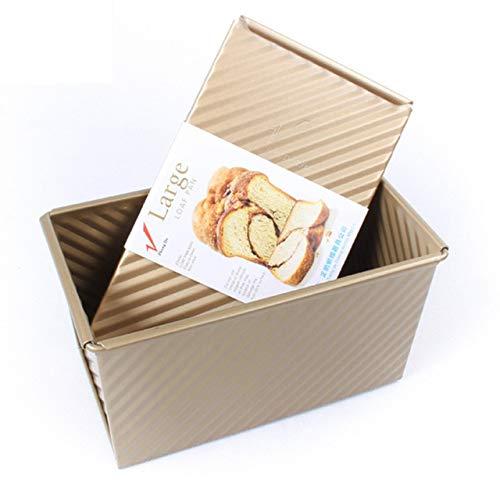 Prima05Sally Backformen Laib Pan Aluminium Schneetoast Box Käse Box Backen Braten Brownie Rechteckige Kuchen Kleine Toastbrotform Kuchenform Aluminium-non-stick Loaf Pan