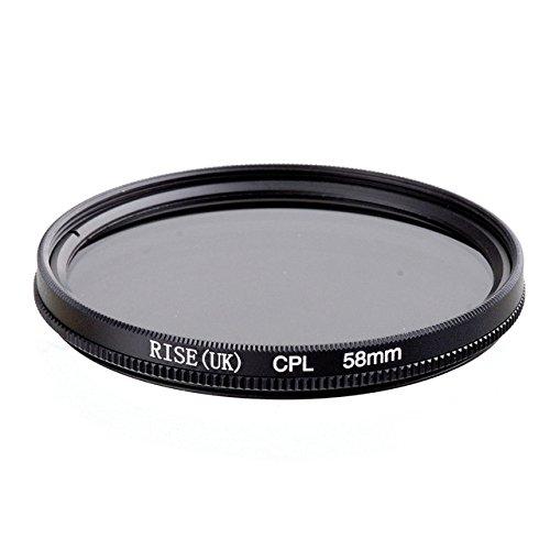 CPL 58mm Zirkular Polfilter CPL für Ziel von 58mm Durchmesser für alle Marken Canon Nikon Sony Pentax Fuji Olympus Leica Panasonic Sigma Tamron Minolta Zeiss Tokina Kodak Rodenstock SLR DSLR–adaptout Französische Marke
