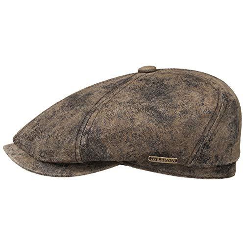 Stetson Gorra de Piel Vintage McCook by gorro ivygorra (L (58-59 cm) - marrón)