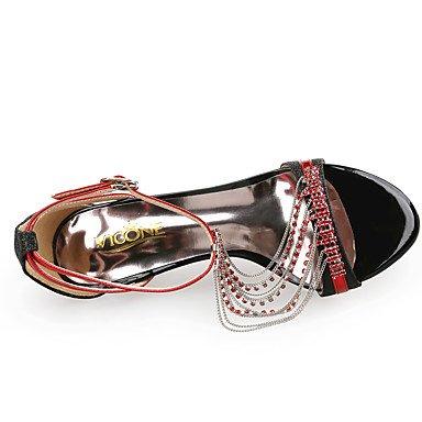 LvYuan Da donna-Sandali-Matrimonio Formale Serata e festa-Club Shoes-A stiletto-Sintetico Lustrini-Blu Rosso Argento Dorato Red