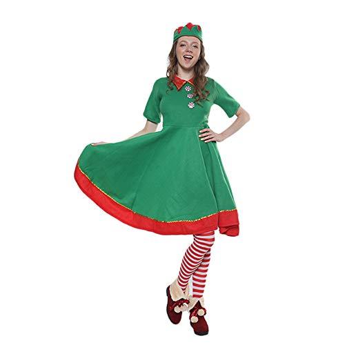 Frau Elf Für Kostüm - MLYWD Elf Kostüm Frau, Weihnachtskostüm, Weihnachtsmann Kostüm Party Cosplay Weihnachtsmann Kostüm Erwachsene Weihnachtskostüm und Weihnachtself Kostüm, Cosplay Kostüm Karneval Party Kleid