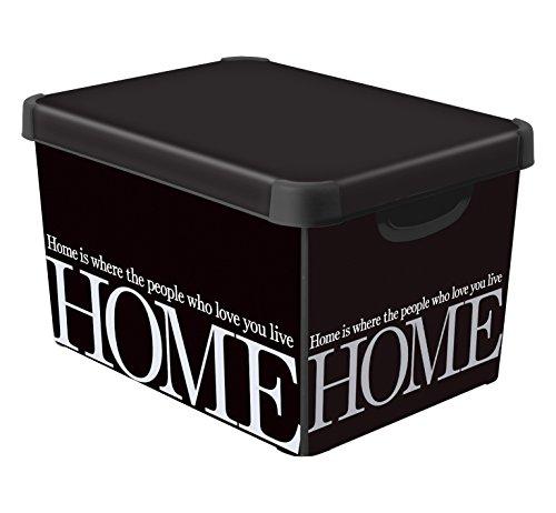 Curver 226615 déco stockholm l - scatola portaoggetti, con scritta