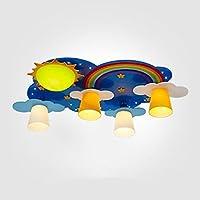 Creative Home Improvement Children Bedroom Ceiling Lamp LED Boy Girl Princess Warm Room Lamp Cartoon Lamp L68*W53*H19cm Light Color: White Light, Warm Light, You Can Choose