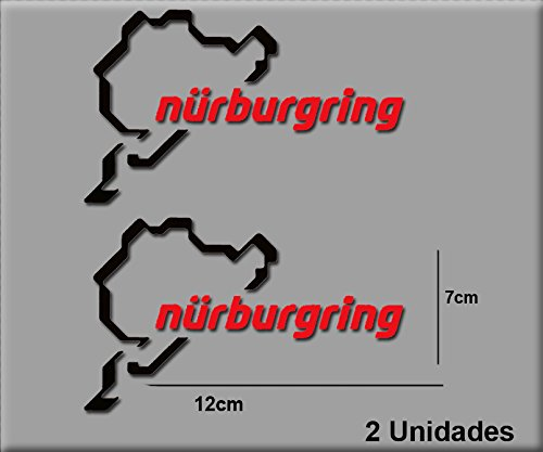 PEGATINAS NÜRBURGRING R82 VINILO ADESIVI DECAL AUFKLEBER STICKERS CAR VOITURE SPORT RACING NEGRO ROJO/BLACK RED