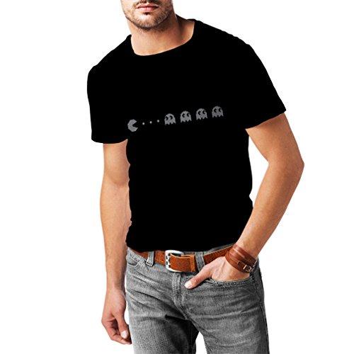 lepni.me Männer T-Shirt Retro-Gamer-Geschenk, klassisches Videospiel-Liebhaberstück (X-Large Schwarz Silber)