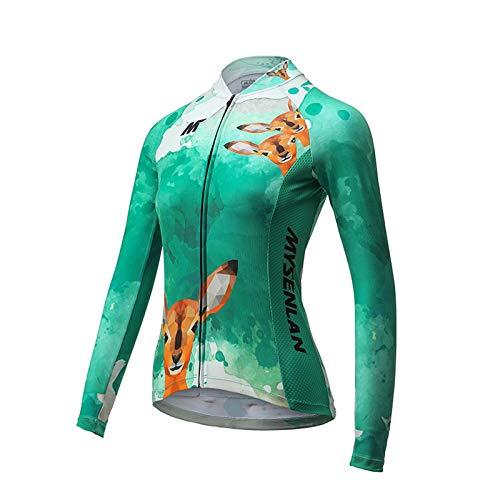 MYSENLAN Femme Cyclisme Maillot de Manches Longues...