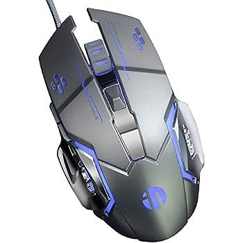 Inphic ratón Botones silenciosos Ultra-fino de 2,4 GHz inalámbrico ...