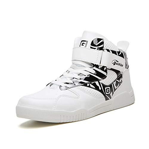 MISSQQScarpe Uomo da Pallacanestro Leggere Basket Sneakers Alte Sportive Esterno Grandi Calzature da Corsa