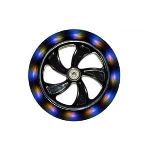 Hepros Paire de roues lumineuses comprenant 5 LED chacune pour trottinette 200 mm