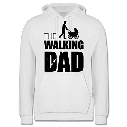 Vatertag - The Walking Dad - Männer Premium Kapuzenpullover / Hoodie Weiß