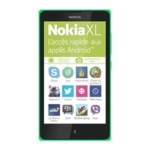 Nokia XL Smartphone débloqué 3G (Ecran: 5 pouces - 4 Go - Nokia X OS - Double SIM) Vert