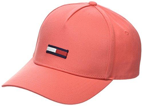 Tommy Jeans Unisex Baseball Tju Flag Cap W, Rot (Spiced Coral 634), One Size (Herstellergröße: OS)