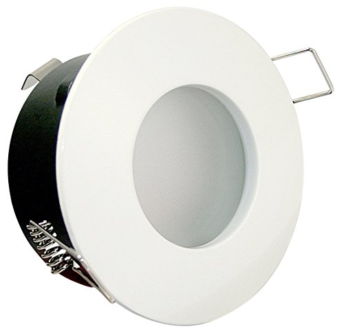 1er Set 5Watt COB LED Badezimmer Einbaustrahler Bädermax 230Volt Deckenleuchte - IP65 - LED Kaltweiss Farbe: Weiß - Für Bad Dusche und Aussenbereich. 5w Marine