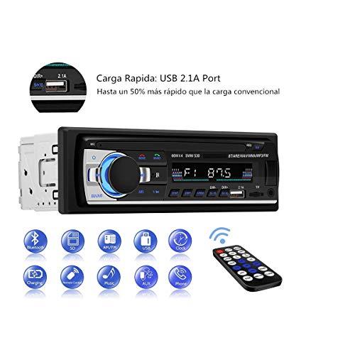 Autoradio Bluetooth, CENXINY 1 DIN MP3 Receptor Estéreo de Coche con Bluetooth 4.2, FM Receptor de Medios Micrófono Incorporado Puerto USB y Ranura para Tarjetas SD