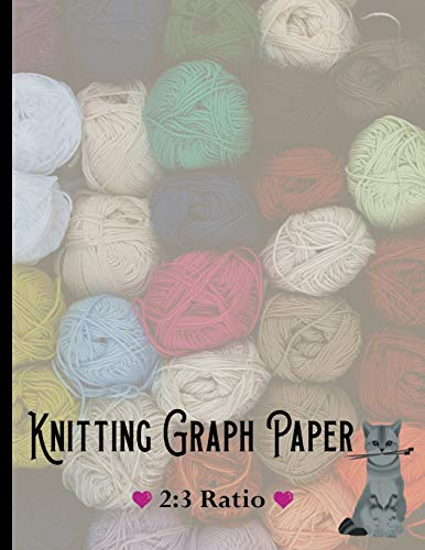 Knitting Graph Paper: │2:3 Ratio │Knitting Design Notebook │ 8.5x11 inch │ (Fiber Arts Journals, Band 2) (Ninja Kostüme Uk)