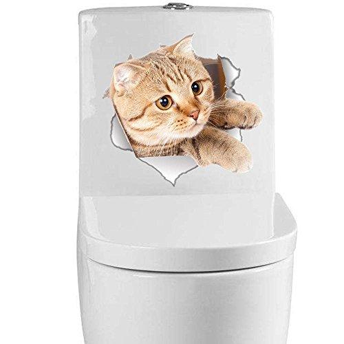 YiyiLai 3D WC Deckel Aufkleber Toilettendeckel Klodeckel Tattoos Aufkleber Form # 003