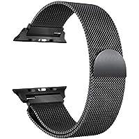 Cooljun Compitable avec Apple Watch Series 4 40mm/44mm,Bracelet de Montre magnétique en Acier Inoxydable milanais