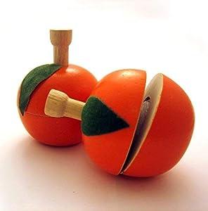 Estia - Juguete de 5 x 4,5 cm, diseño de Naranja a Cortar (5 Piezas)