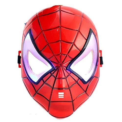 (PICCOLI MONELLI Maske Spider Man Kinder Maske für Herren Karneval Super Eroi)