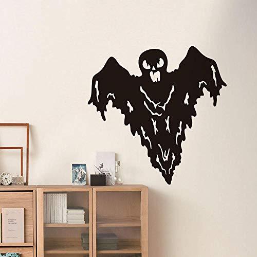 LSDAEER Wandsticker Wandtattoo Wand Deko Für Wohnzimmer Persönlichkeit Halloween Serie Aufkleber Gespenst Gesicht Fledermaus Wandaufkleber Entfernbare Dekorative Aufkleber, 42 * 42Cm